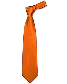 Solid Copper Extra-Long Tie - Forzieri