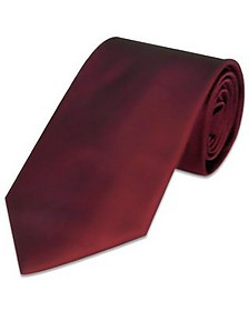Solid Bordeaux Extra-Long Tie - Forzieri
