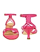 Magenta Woven Calf Leather Ankle-Strap Sandal Shoes - Forzieri