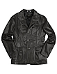 Men's Black Italian Genuine Leather Blazer - Forzieri