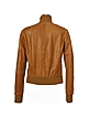 Women's Tan Italian Genuine Leather Two-pocket Jacket - Forzieri