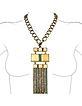 Crystal & Square Stones Chain Necklace - Ileana Creations