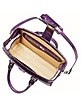 Violet Croco-embossed Mini Doctor Bag - L.A.P.A.