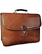 Classic Sand Leather Briefcase - L.A.P.A.