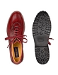 Red Italian Hand Made Leather Lace-up Shoes - Pakerson