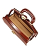Dark Brown Italian Calf Leather Mini Doctor Bag w/ Lighting - Pratesi
