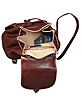 Brown Leather Backpack - Robe di Firenze
