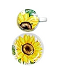 Sunflower Ceramic Cup with Tea/Herb Filter - Spigarelli