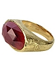 Dany - Oval Garnet Yellow Gold Ring  - Torrini