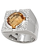 Character - Citrine and Diamonds White Gold Ring - Versace