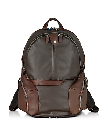Piquadro - Nylon & Leather Computer Backpack