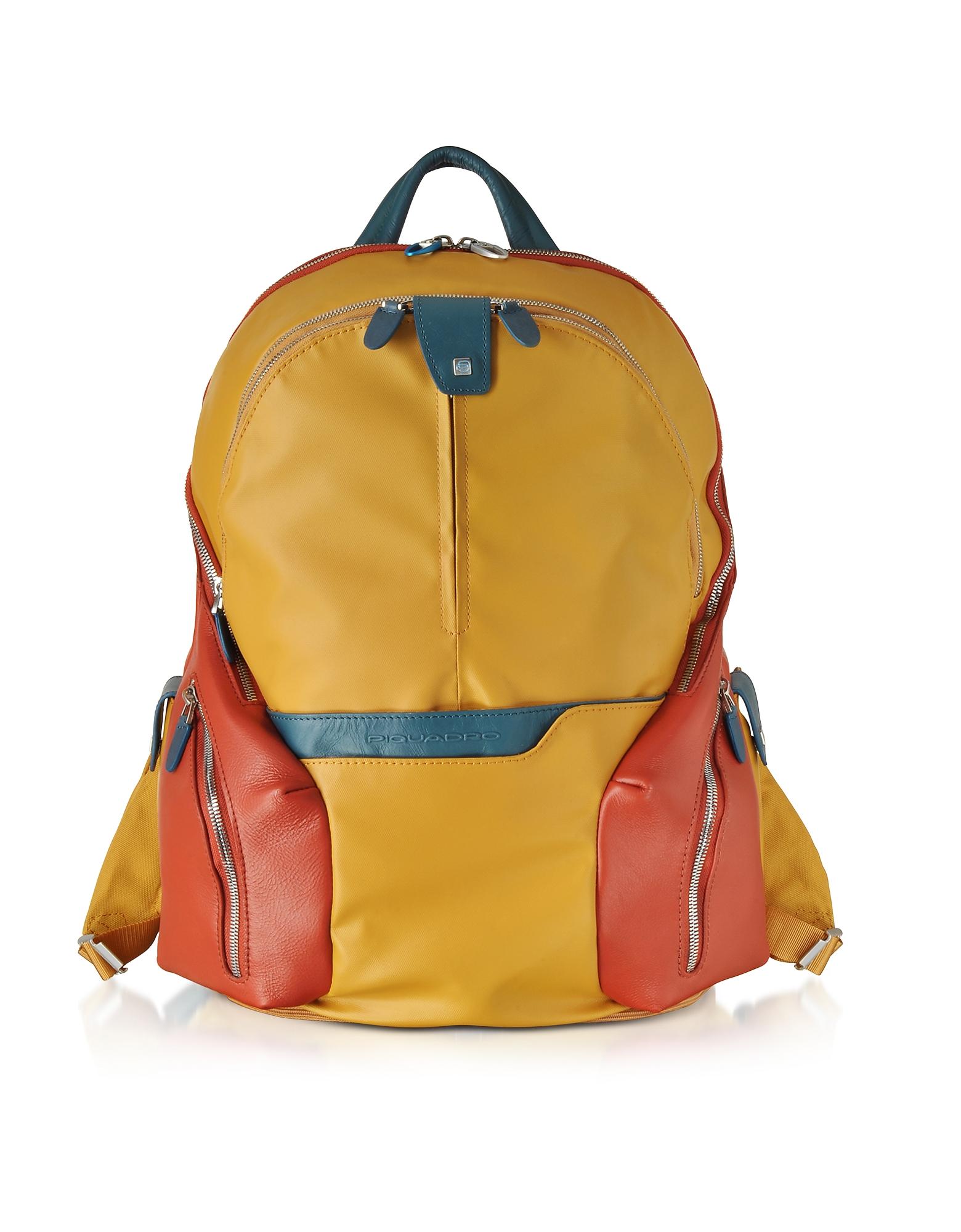 Piquadro Backpacks, Nylon & Leather Computer Backpack