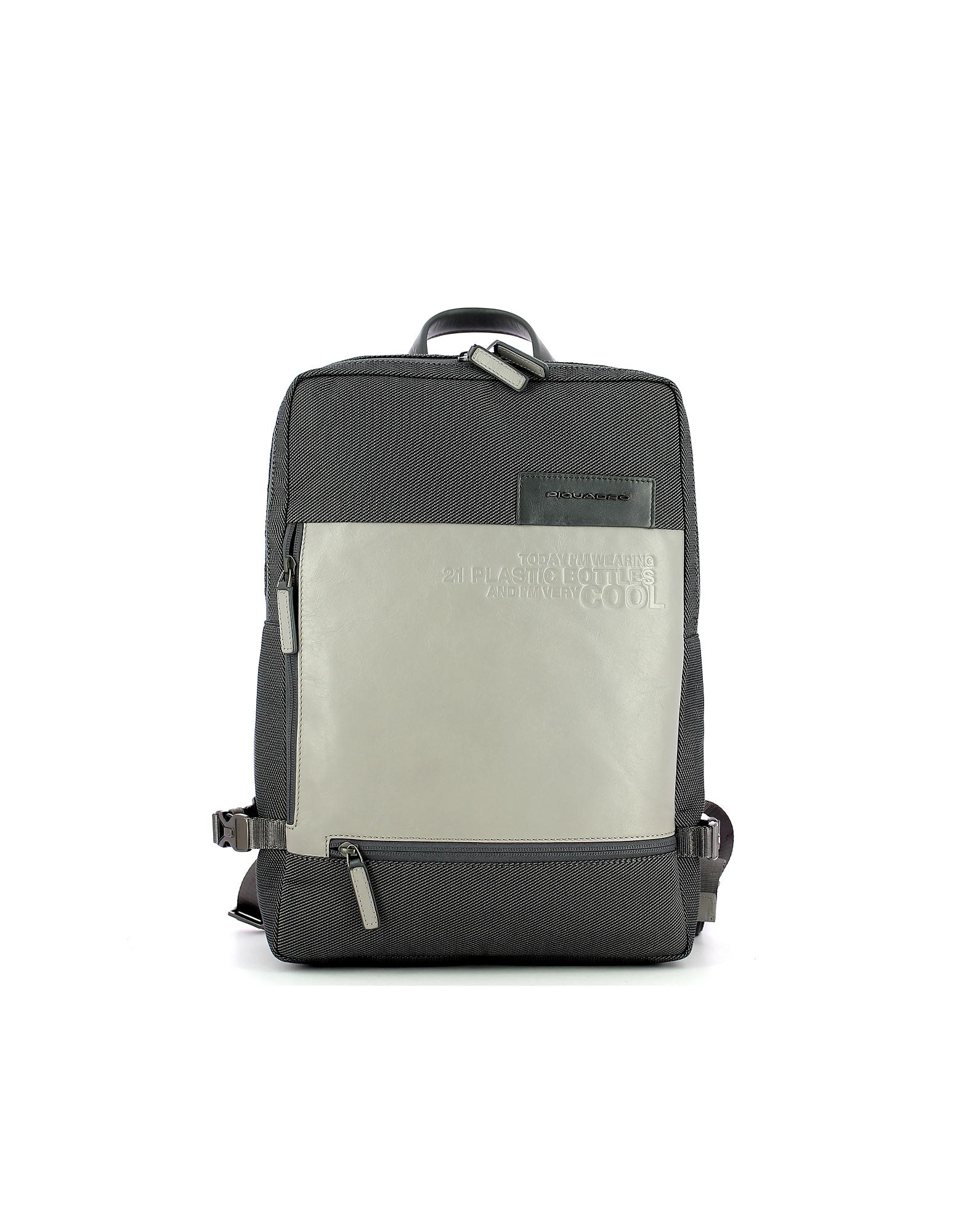 Piquadro Designer Men's Bags, Men's Gray Backpack