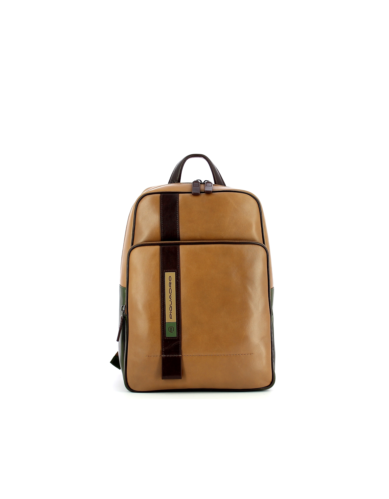 Piquadro Designer Men's Bags, Men's Beige Backpack