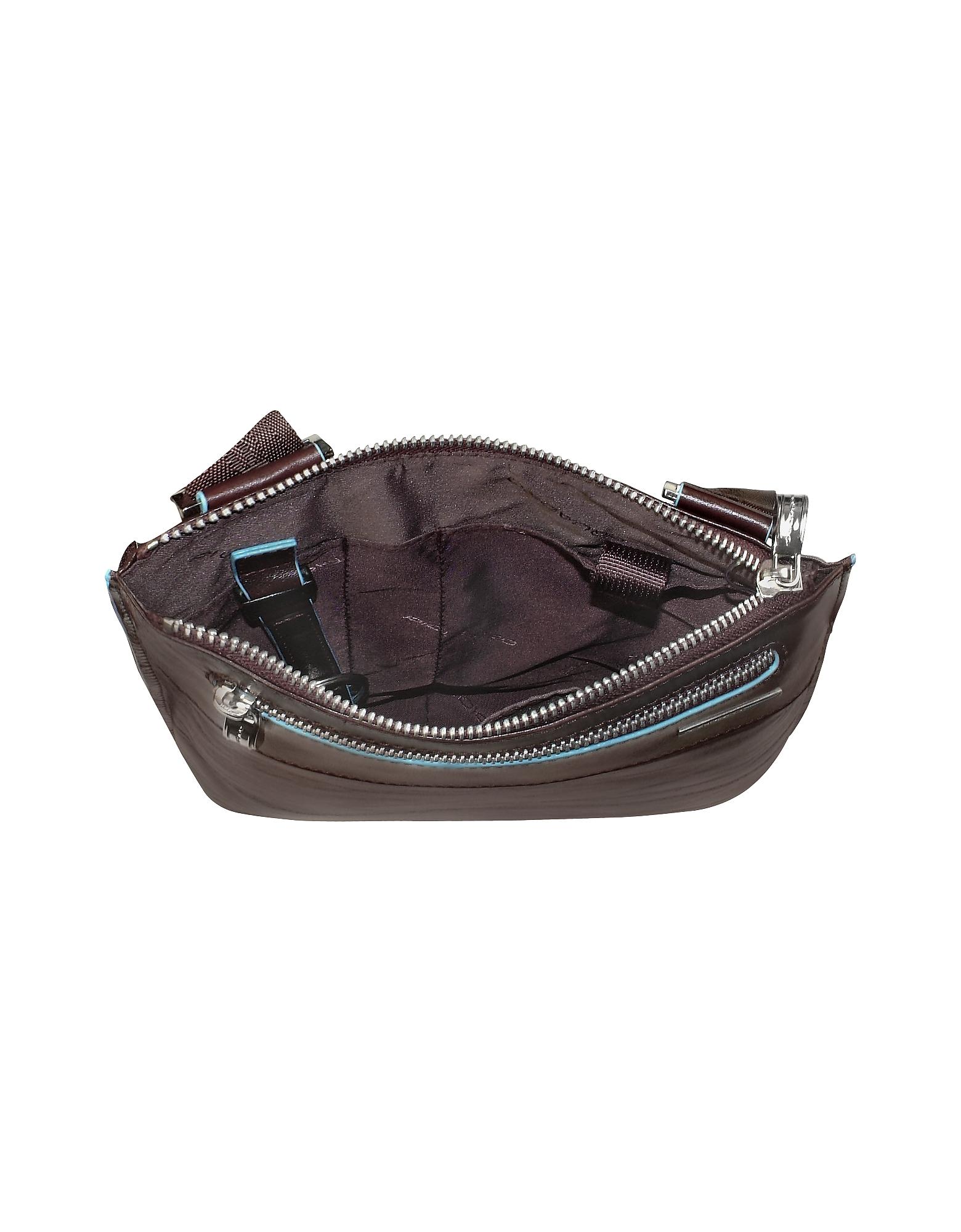 Blue Square - Slim Leather Messenger Bag от Forzieri.com INT