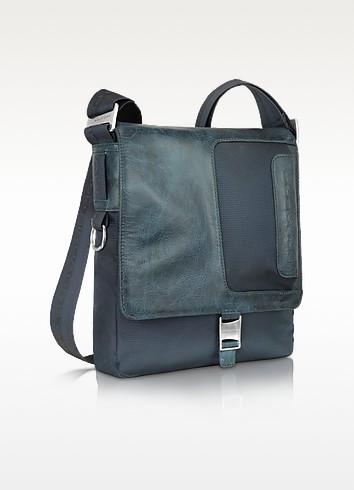 Frame - Nylon and Leather Messenger Bag - Piquadro