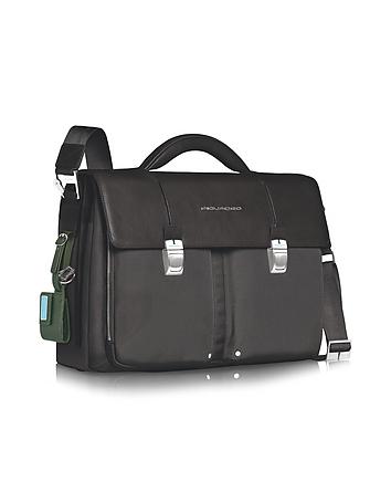 Link - Double Front Pocket Double Gusset 15 Laptop Briefcase