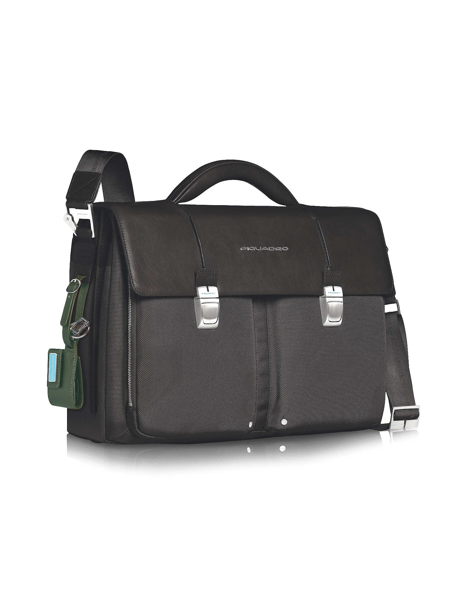 "Piquadro Designer Briefcases,  Link - Double Front Pocket Double Gusset 15"" Laptop Briefcase"