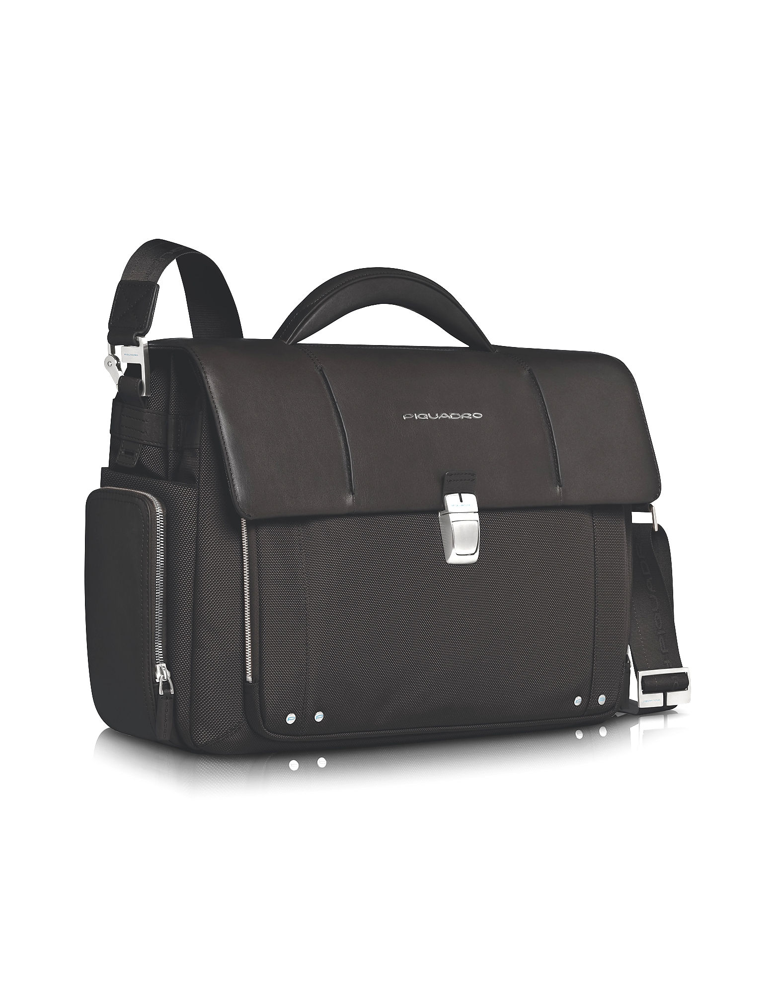 "Piquadro Briefcases, Link - Front Pocket Double Gusset 15"" Laptop Briefcase"