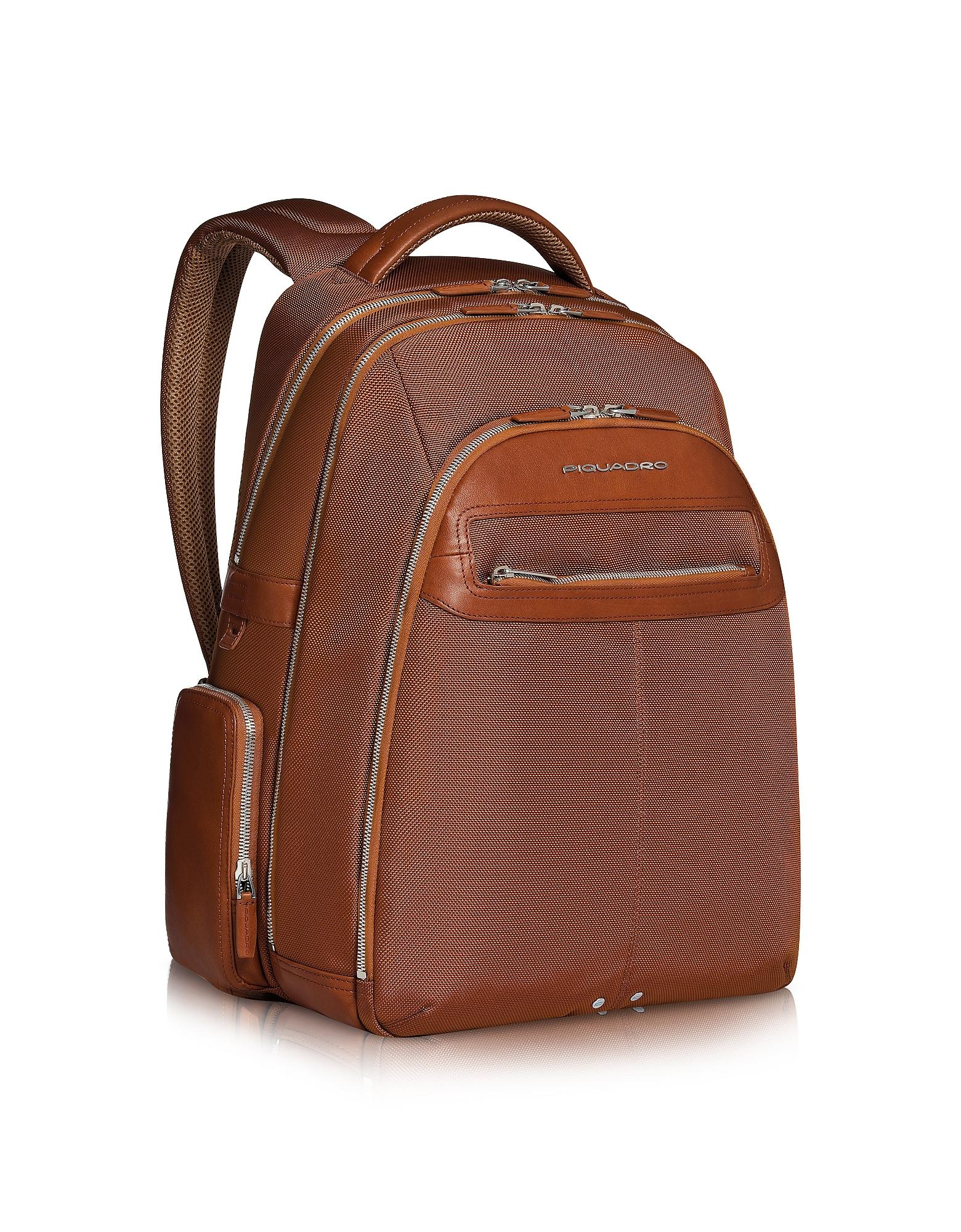 Piquadro Backpacks, Link - Multi-pocket Laptop Backpack