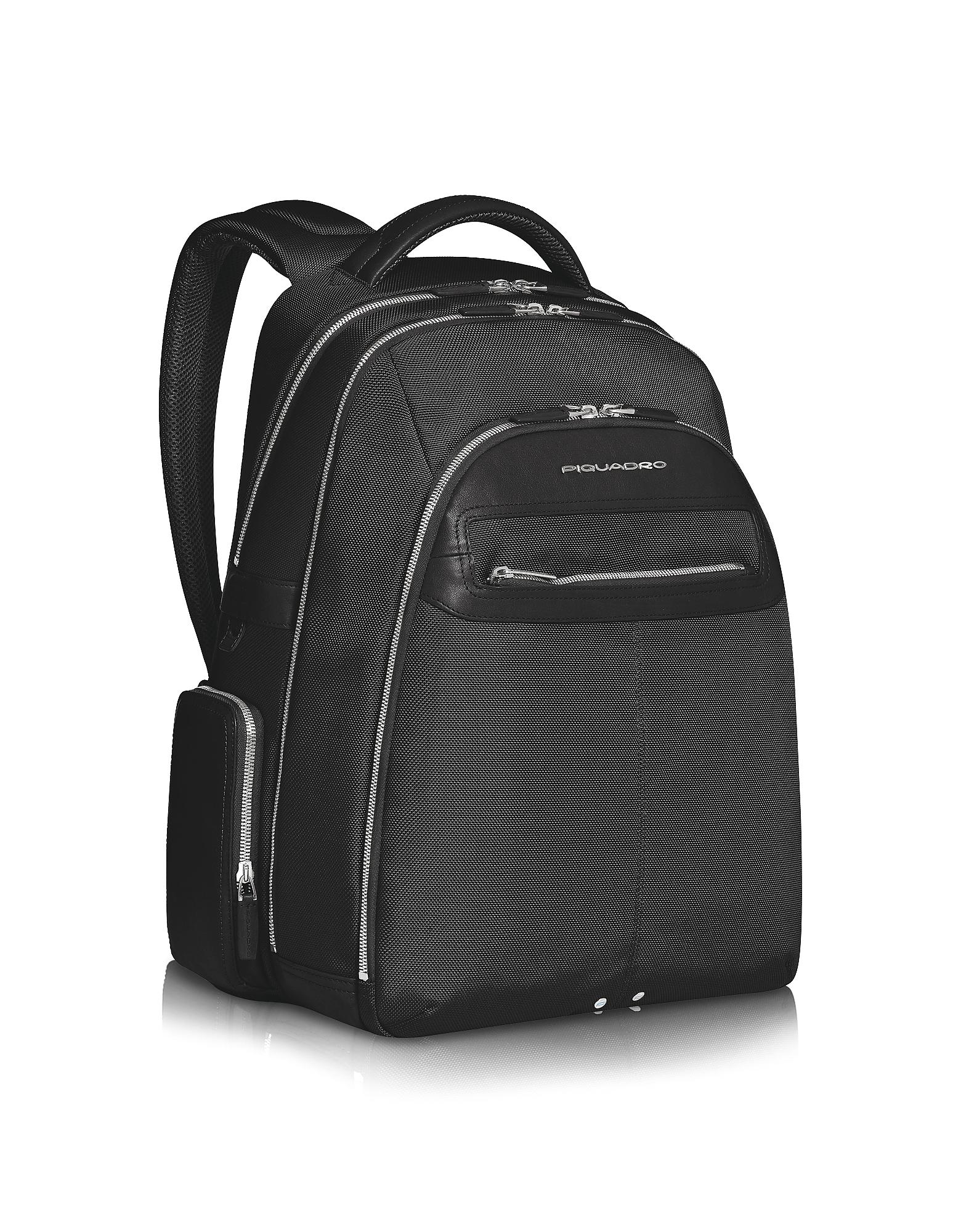 Piquadro Travel Bags, Link - Multi-pocket Laptop Backpack
