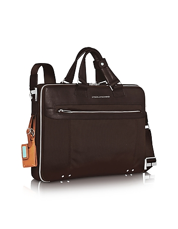 Piquadro - Link - Double Handle 17 Laptop Case