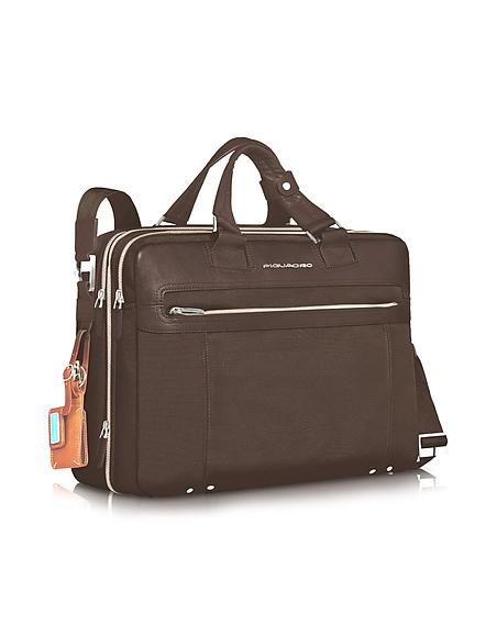 Piquadro Link - Vergrösserbare Laptoptasche mit zwei Henkeln