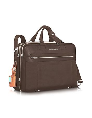 Piquadro - Link - Double Handle 15 Laptop Expandable Case