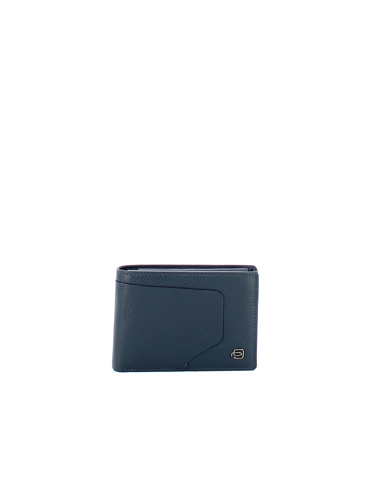 Piquadro Designer Men's Bags, Men's Blue Wallet