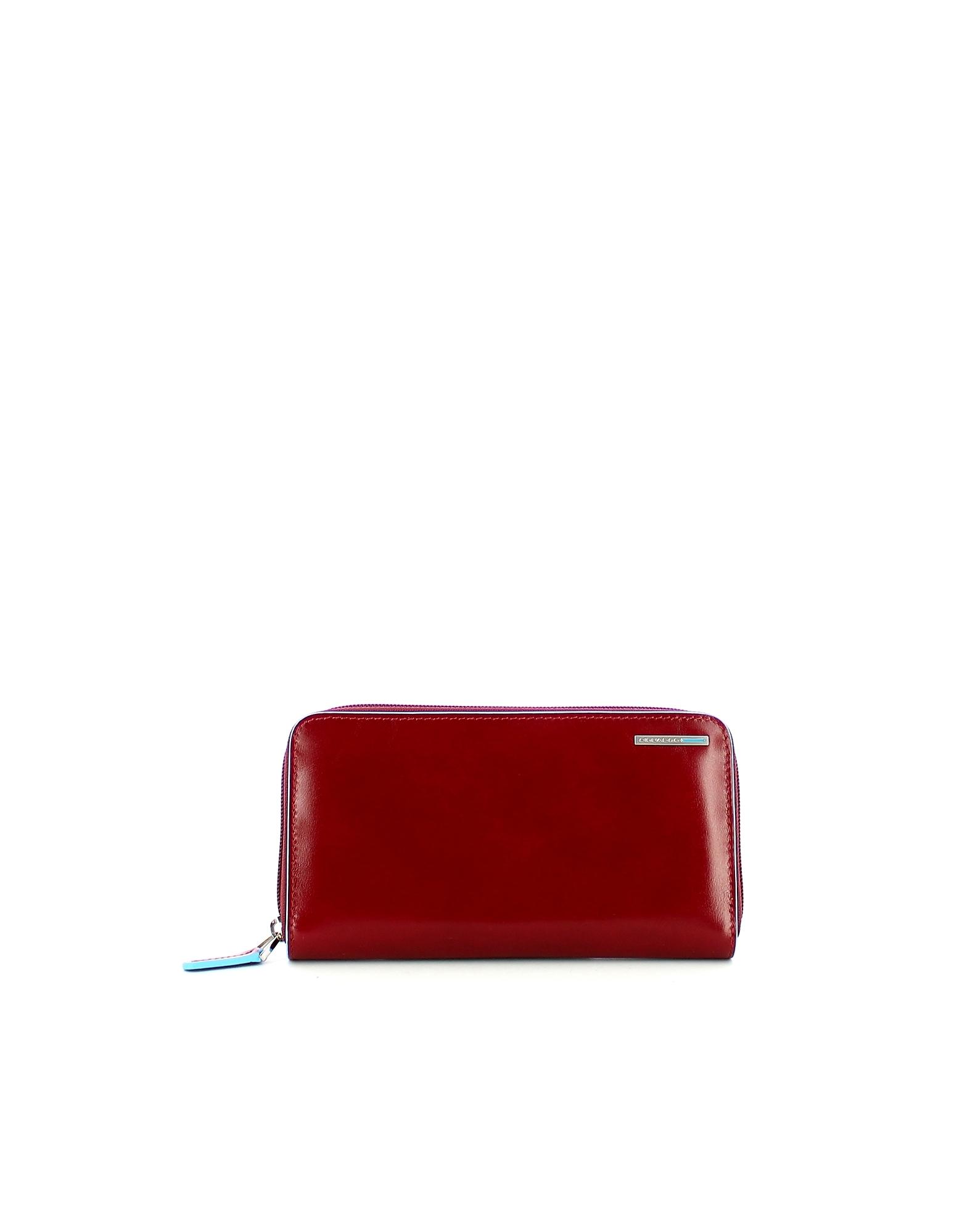 Piquadro Designer Wallets, Women's Red Wallet