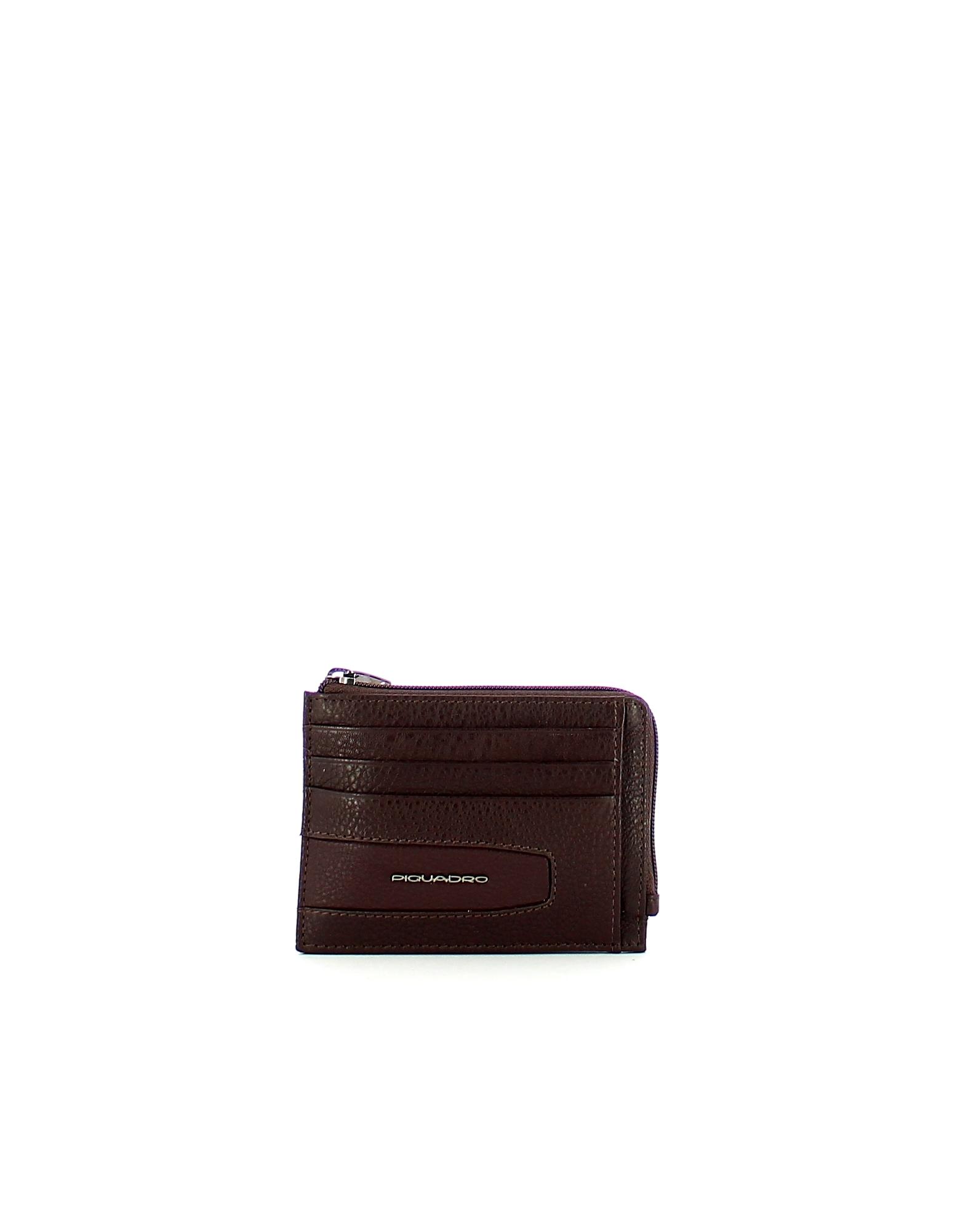 Piquadro Designer Men's Bags, Men's Brown Wallet