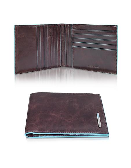 Piquadro Blue Square - Brieftasche aus echtem Leder