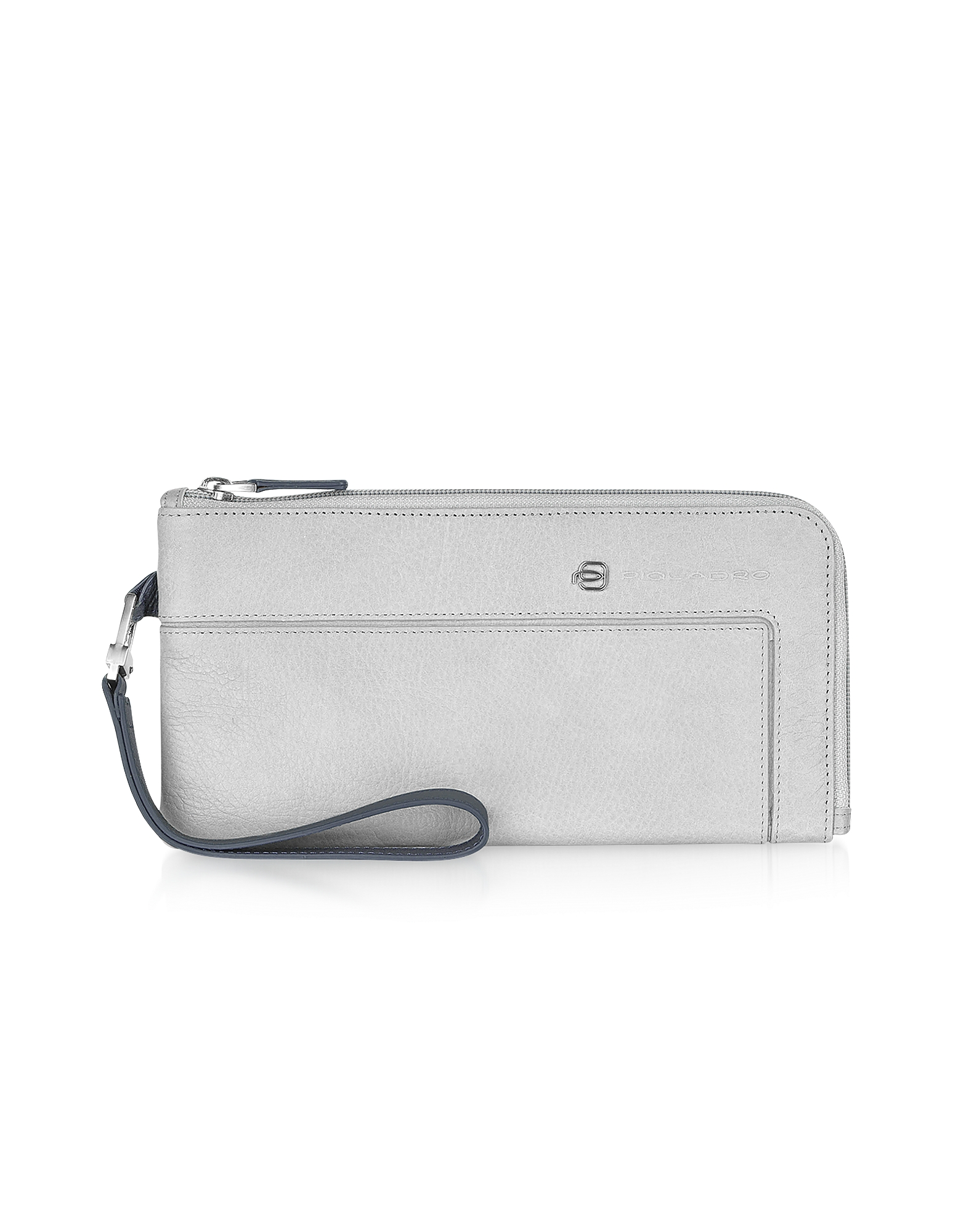 Piquadro Wallets, Vibe - Zip Around Leather Wallet Clutch