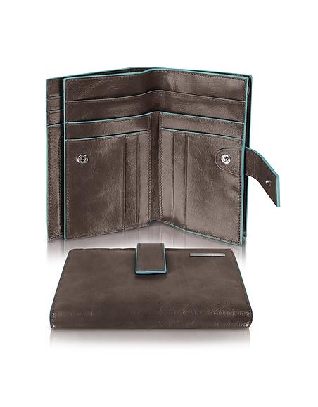 Piquadro Blue Square - Damenbrieftasche mit Kartenfächern und Id Fenster