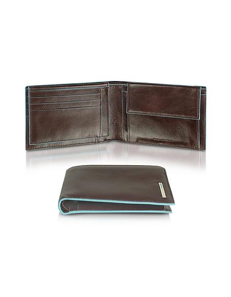 Piquadro Blue Square - herrenbrieftasche und Kartenetui aus Leder