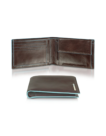 Blue Square - Men's Leather Card Holder & ID Wallet