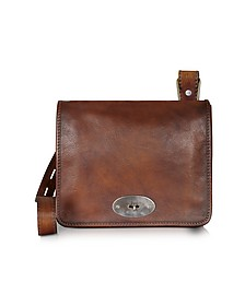 Genuine Leather Crossbody Bag - Pratesi