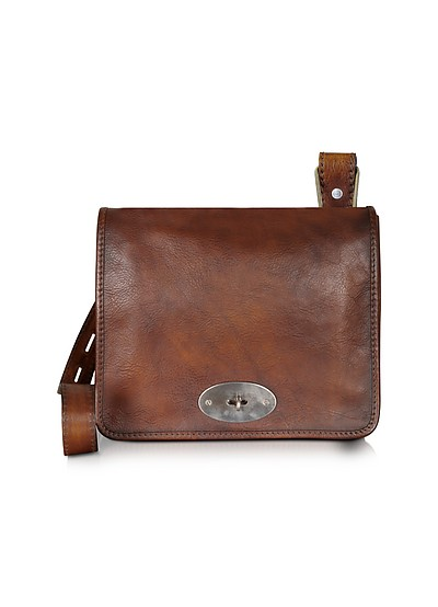 Genuine Leather Crossbody Bag - Pratesi
