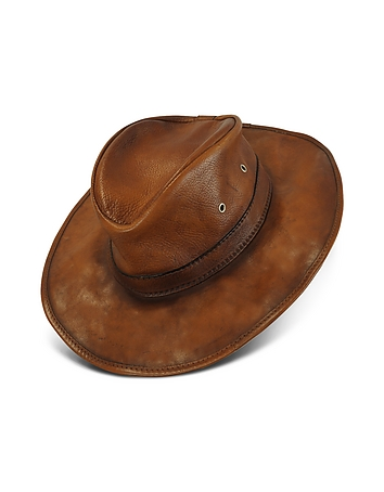 1960s – 70s Style Men's Hats Genuine Leather Hat $280.00 AT vintagedancer.com