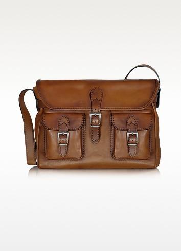 Large Leather Crossbody Bag - Pratesi