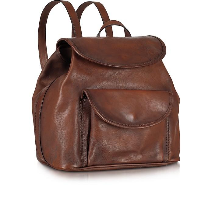 Genuine Leather Backpack - Pratesi