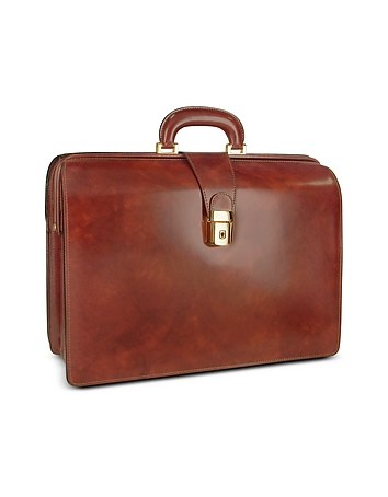 Men's Leather Doctor Bag Briefcase w/Interior Lighting