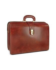 Men's Leather Doctor Bag Briefcase w/Interior Lighting - Pratesi