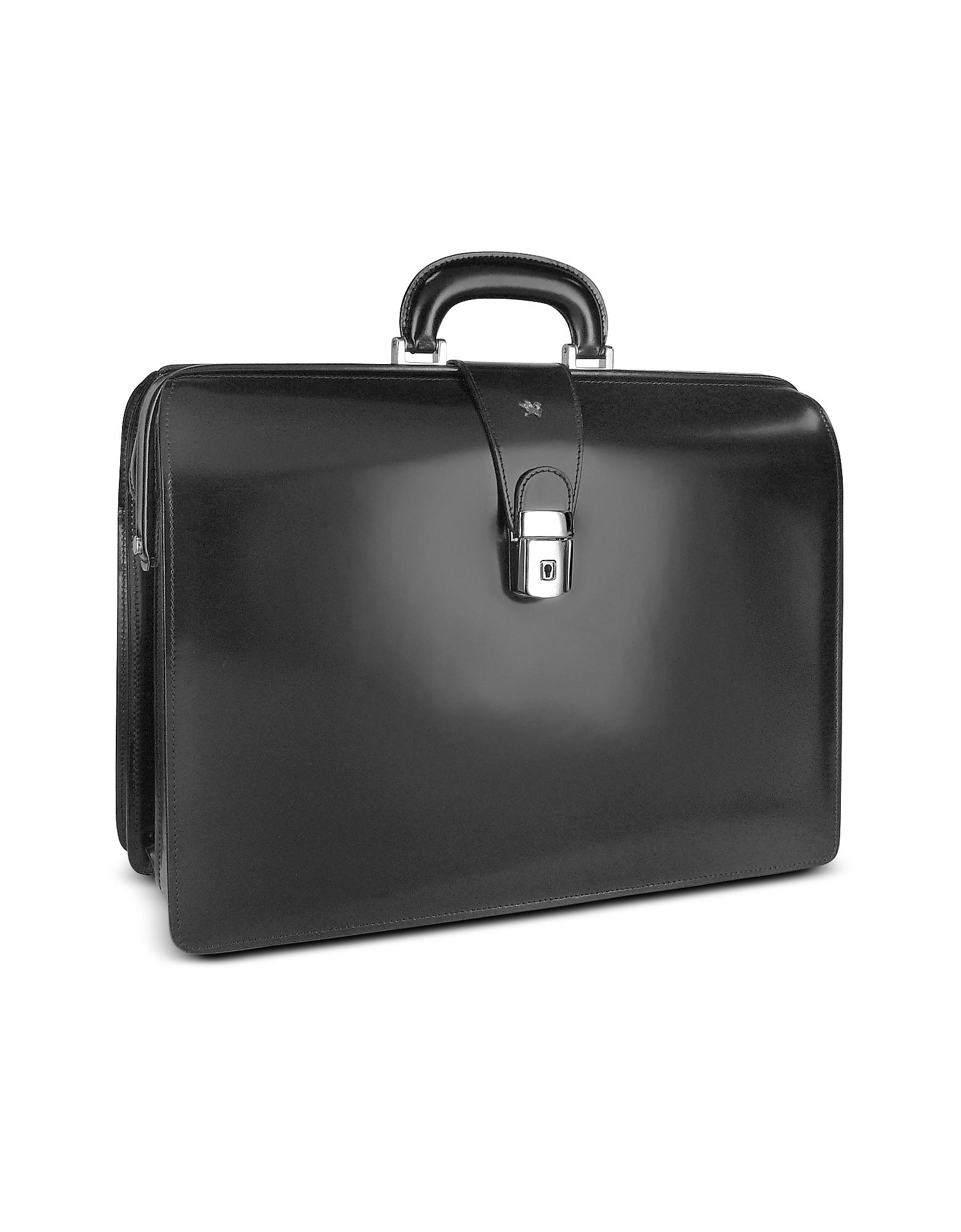 Pratesi Designer Briefcases,  Men's Leather Doctor Bag Briefcase w/Interior Lighting