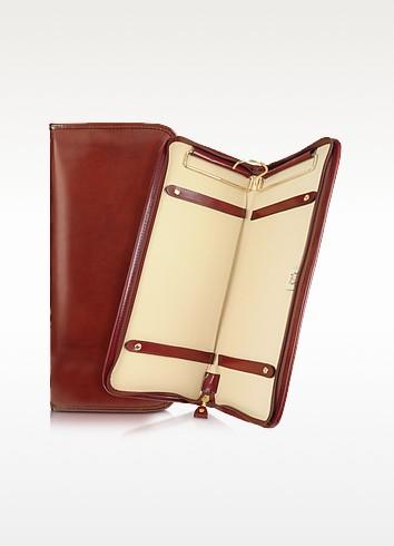 Brunelleschi Dark Brown Italian Leather Tie Case - Pratesi