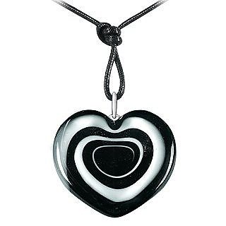 Swirling Heart Murano Glass Necklace - Akuamarina