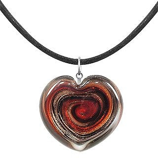 Aventurine & Murano Glass Heart Necklace - Akuamarina