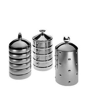 Alessi Kalisto' - Boîte de rangement avec poignée en aluminium