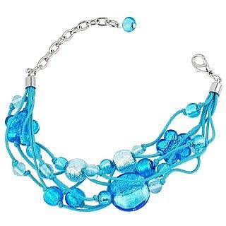 Cancun - Murano Glass Beads & Flowers Multi-strand Bracelet - Antica Murrina