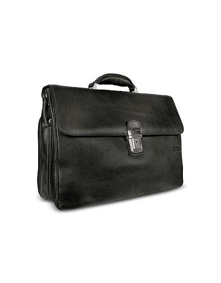 Chiarugi Herren Tasche aus echtem Leder in braun